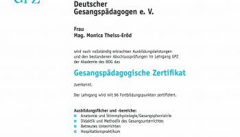 GPZ Urkunde
